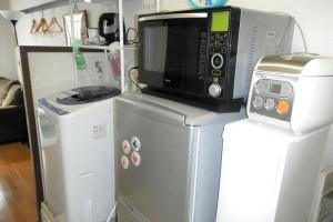 設備(冷蔵庫/電子レンジ/洗濯機/炊飯器)