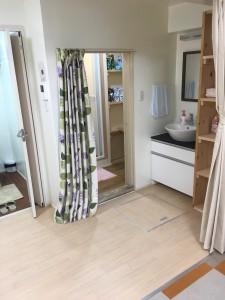 洗面台、着替えスペース